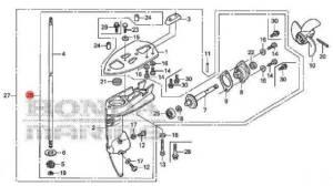 41005zw6c00za Honda Marine Short Shaft Lower Unit