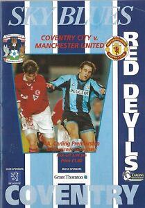 Football Programme>COVENTRY CITY v MAN UTD Jan 1997   eBay