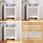 Mirrored Radiator Cover Console Table Home Hallway Furniture Wall Cabinet White For Sale Ebay