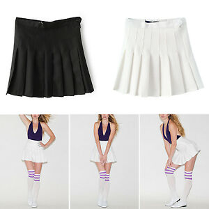 462c7d4119 New Fashion Womens Slim Thin High. New Fashion Womens Slim Thin  High Waist Pleated Tennis Skirts Mini Dress Playful eBay