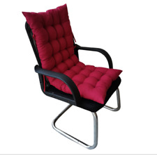 outdoor patio high back cushion red