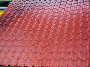details about tile effect roofing sheets terracotta pvc 7mm summerhouse garden sheds