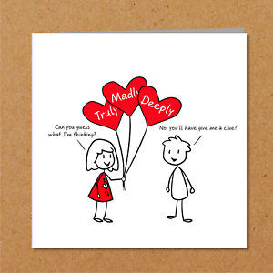 Romantic Valentines Day Birthday Card Boyfriend Funny Cute Love You Handmade Ebay