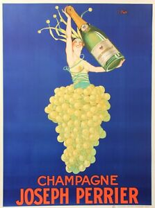 details about original vintage 1926 champagne poster champagne joseph perrier by j stall