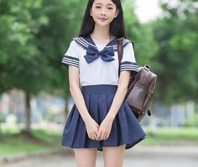 Image Is Loading Hot Japanese High School Girl Sailor Uniform Top