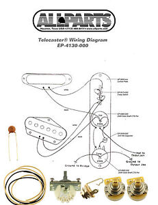 WIRING KITFENDER® TELECASTER TELE Complete with Schematic Diagram USA Parts 645208036675 | eBay