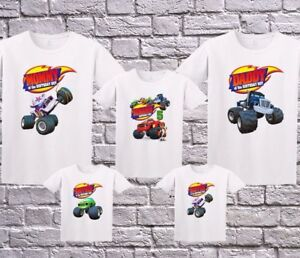 Blaze Birthday Shirt Personalized Custom T Shirt Family Black Shirts Kleidung Accessoires Unisex Mode