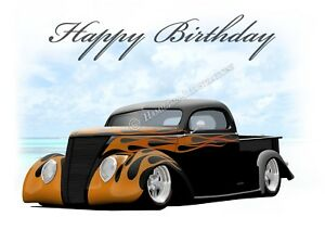 1937 37 Ford Pick Up Hot Rod Car 21st 30th 40th Birthday Greetings Card Fl Ebay