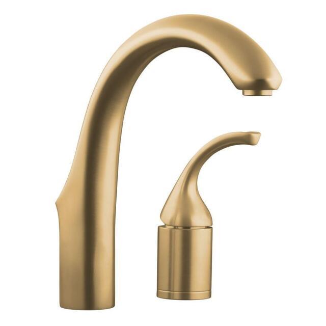 kohler 10443 bv forte entertainment kitchen faucet w o sidespray brushed bronze