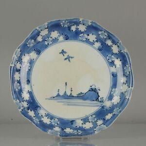 lovley Arita Plate Beautifull Japanese Porcelain Plate Edo Period 18th c...