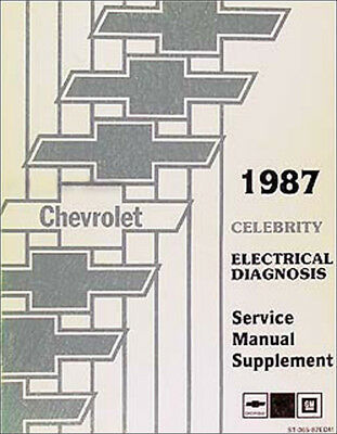 1987 chevy celebrity electrical manual wiring diagrams  ebay