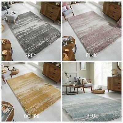 dakari reza ombre rose ocre bleu gris epais doux tapis epais tapis ebay