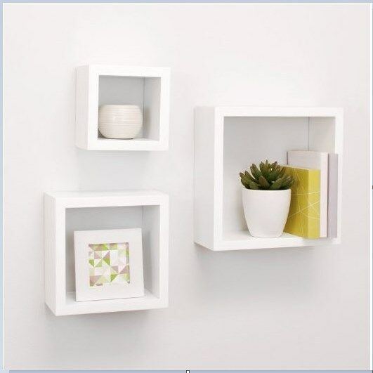Home Wall Shelves Cube Small Floating Shelf Box Display Decor Set Of 3 Storage For Sale Online