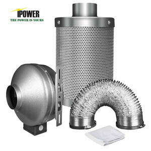 details about ipower 4 6 8 inline fan exhaust blower ducting air carbon filter fan combo