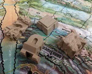 details zu 1981 mb milton bradley dark tower board game part tan building tiles near mint