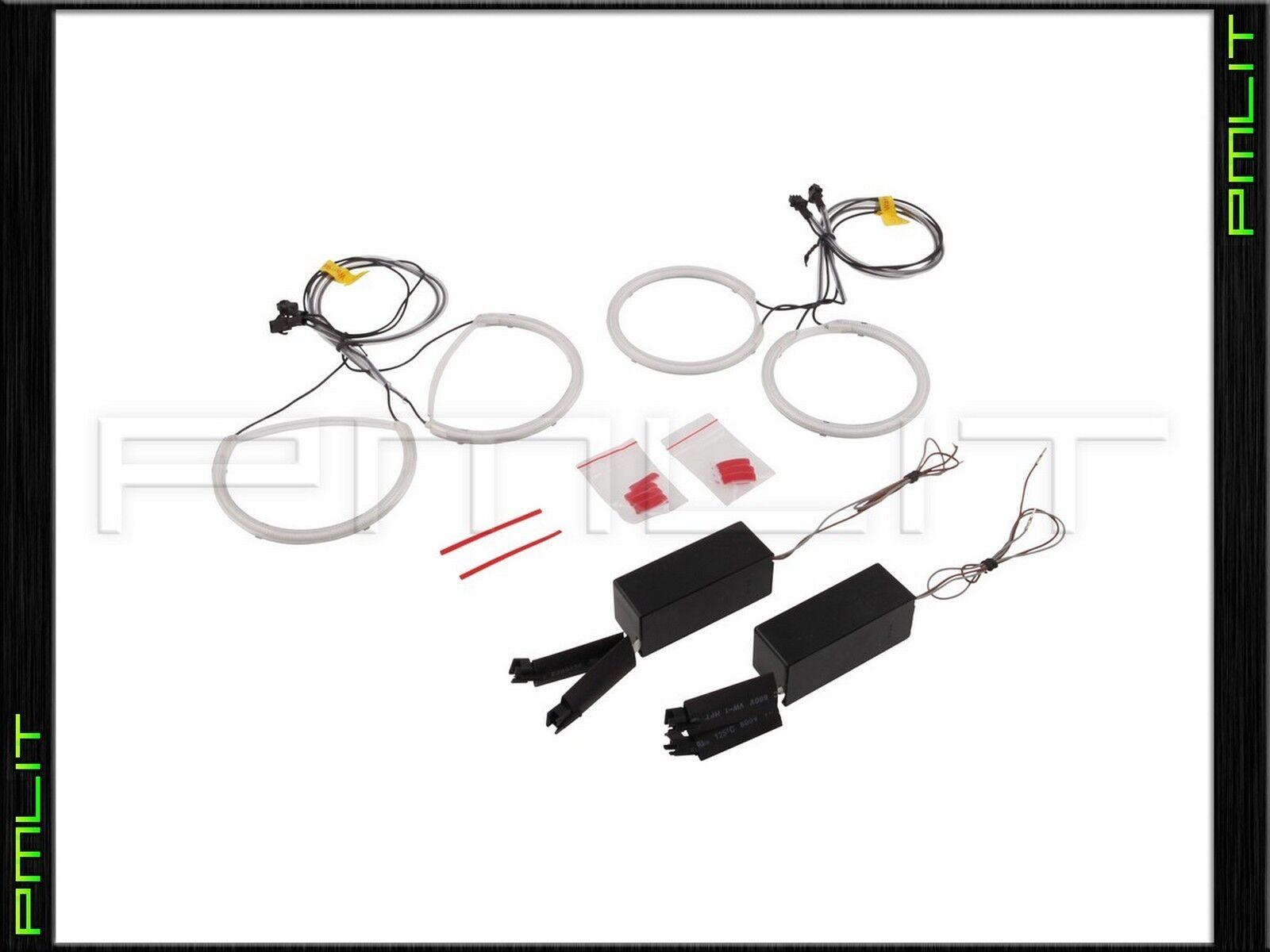 Pmlit Led White Angel Eyes Halo Rings Bulb Kit For 04 09