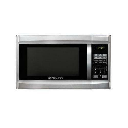 emerson microwave oven mw1338sb 1000 watts stainless steel black for sale online ebay