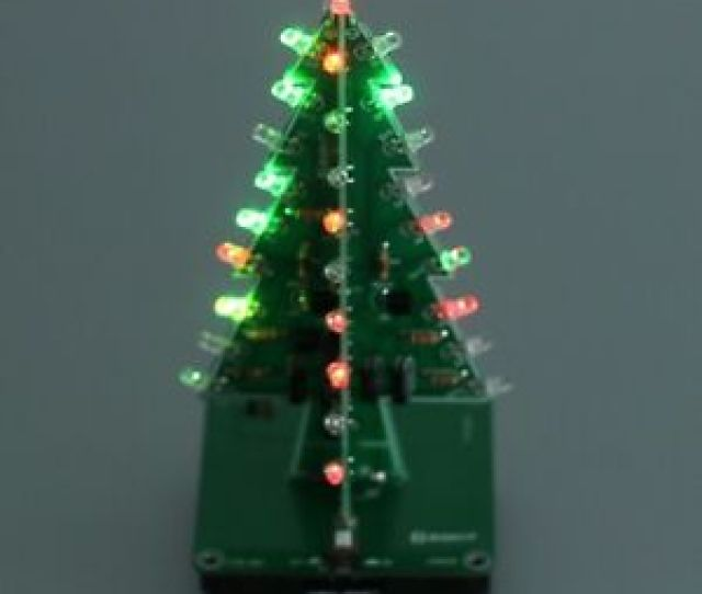 Image Is Loading D Colorful Flashing Christmas Tree Diy Kit For