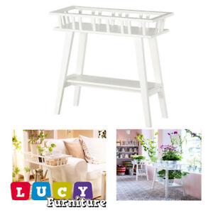 Details About Ikea Lantliv Plant Stand White Garden Corner Rack Indoor Shelves New