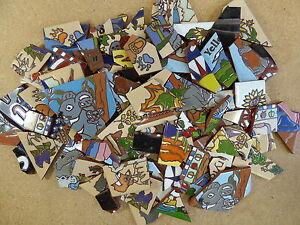details about ceramic tile 20 pound box broken pieces mosaic mural art mixed box all colors