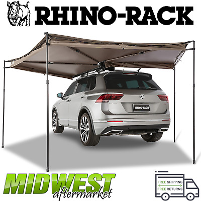 rhino rack batwing compact awning left w 270 degrees of shade ebay