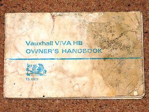 VAUXHALL VIVA HB Original Handbook 1967  includes Wiring