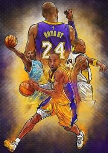details about kobe bryant cc1 la lakers poster art print a4 a3 size buy 2 get any 2 free