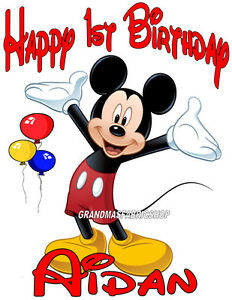 New Personalized Custom Mickey Mouse Birthday T Shirt Party Add Name Age Ebay