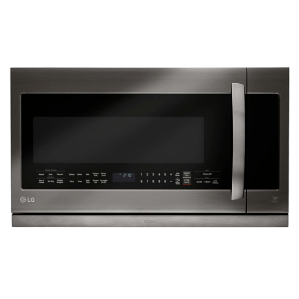 lg lmhm2237bd 2 2 cu ft over the range microwave oven with easyclean black for sale online ebay