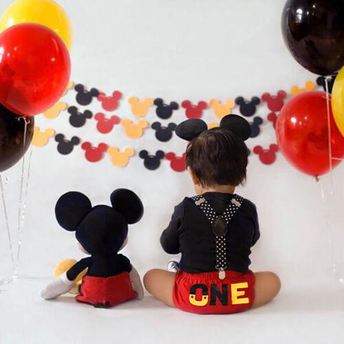 Buy Cake Smash Outfit Baby Boys Mickey Mouse 1st Birthday Suspenders Photo Costume Online In Bahrain 323404760671