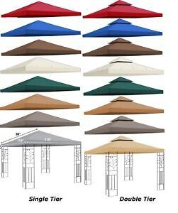 detalhes sobre 8x8 10x10 cobertura de toldo tipo coreto substituicao patio tampa superior ao ar livre single nivel duplo mostrar titulo no original