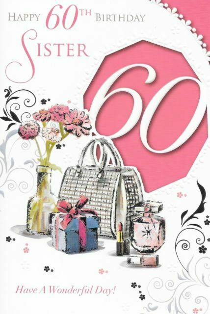 Sister Happy 60th Birthday Greetings Card Girl 60 Wordy Verse Sixty Cs75041 For Sale Online Ebay