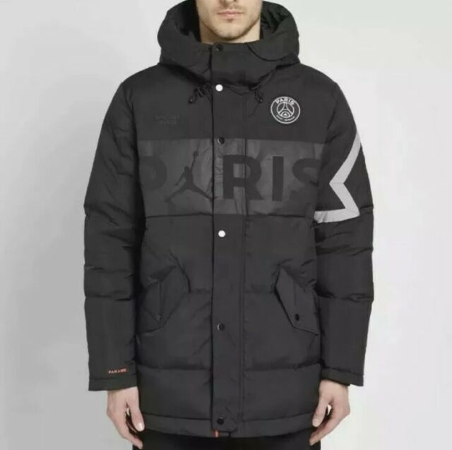 nike air jordan paris xl down parka winter jacket psg saint germain bq8371 010