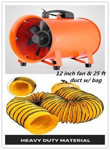 details about 12 extractor fan blower portable 8m duct hose w bag fume ventilation exhaust