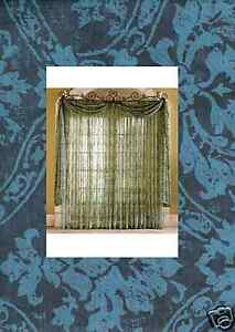 Sheer Voile BLUE pattern Scarf Valance 30 x 288 8yrd   eBay Image is loading Sheer Voile BLUE pattern Scarf Valance 30 x