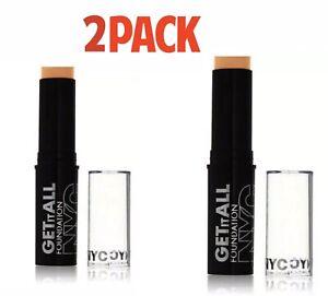 2 Pcs Nyc Get It All Matte Foundation Stick Brand New Sealed 203 Warm Beige Ebay