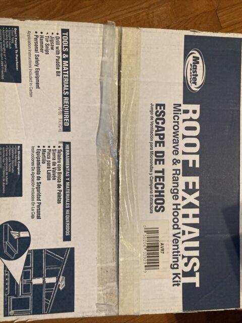roof exhaust appliance vent kit metal duct range hood master flow 7 in avr7