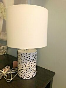 details about brand new kate spade table lamp confetti dot polka shade pink gold black fun