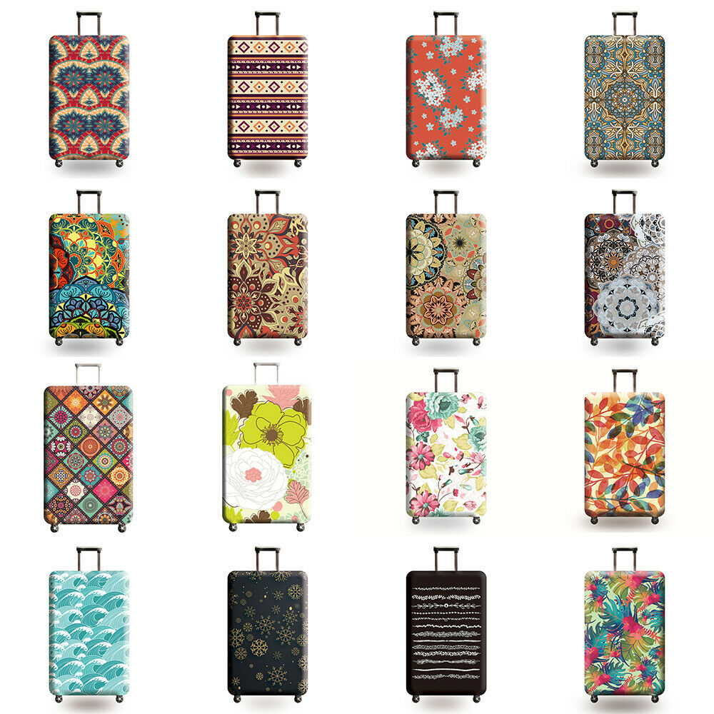 18″-32″ Retro Luggage Suitcase Cover Trolley Protector Cover Elastic Dust Bag