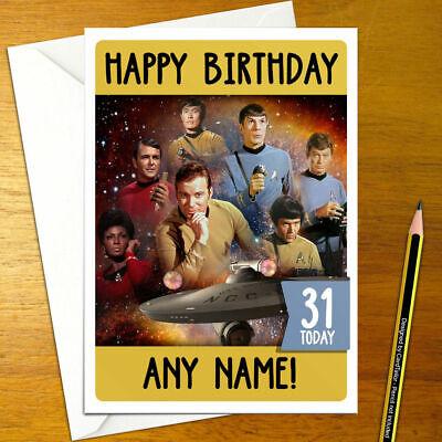 Star Trek Personalisierte Geburtstagskarte Original Kirk Spock Klingonen Personalisierte Ebay