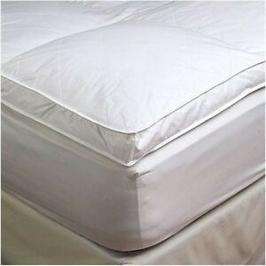 Image Is Loading 2 034 Twin Goose Down Mattress Topper Featherbed