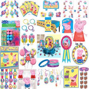 Peppa Pig Birthday Party Supplies Tableware Decoration Favors Balloon George Dad Ebay
