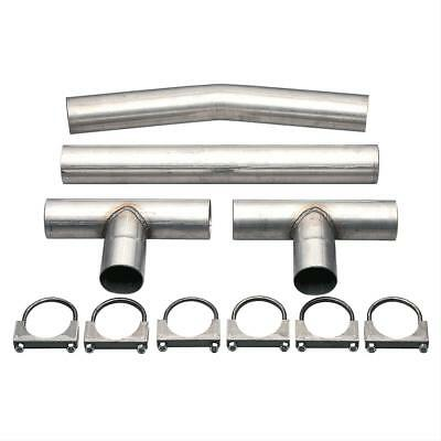 performance universal crossover h pipe exhaust kit steel aluminized 3 inch ebay