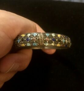 antique chinese sterling silver enamel ladies childs bracelet China Qing Dynasty