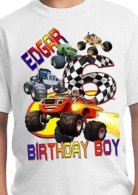 Blaze Birthday Shirt Monster Truck Birthday Shirt Blake Party Supplies Ebay