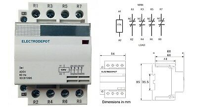siemens replacement lighting contactor 4 pole 40amp 120vac nc normally closed us 934004120818 ebay