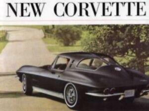 CORVETTE 1963 Sales Brochure 63 Vette | eBay