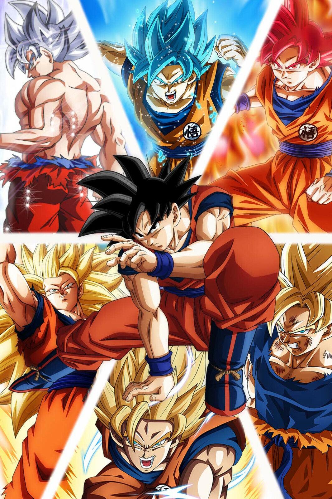 dragon ball super z poster goku and