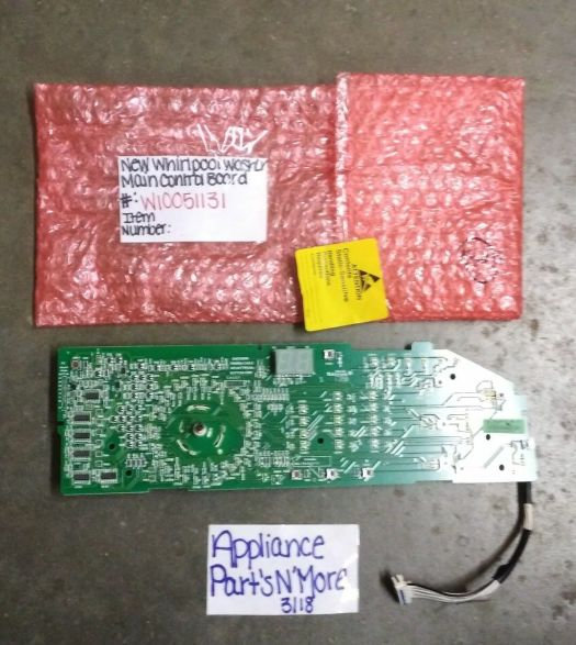 s l1600 - Appliance Repair Parts WHIRLPOOL WASHER CONTROL BOARD W10051131 FREE SHIPPING NEW PART