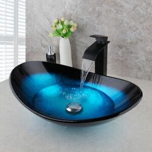 bathroom 4 types black stripe glass